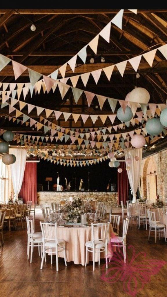 Wedding Bunting Paper Pom Poms